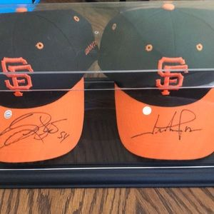 Other - Signed Hunter Pence and Sergio Romo hat.